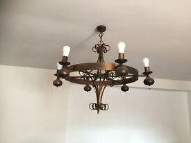 Metal cieling light and matching wall lights for sale