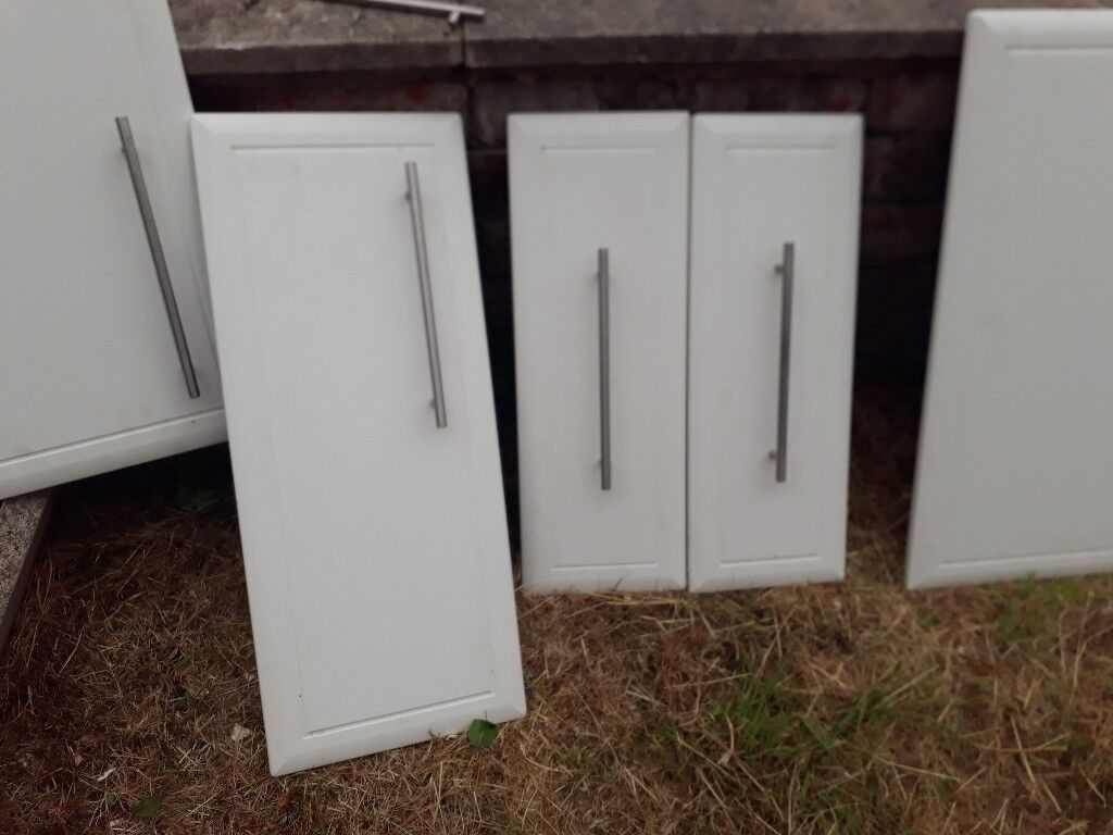 White High Gloss Kitchen Cabinet Doors In Salford Manchester