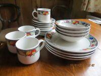 Dinner plates/tea set (4 place settings)