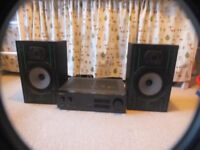 Wharfedale Delta 80 speakers with Pioneer A-331 stereo amp