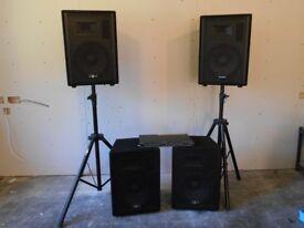4 speaker PA system