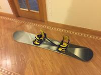 Burton custom 165 snowboard and bindings