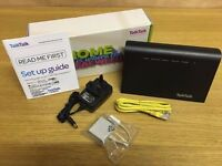 Latest Brand New TalkTalk Firbe Wireless Router HG633- Dual Band (2.4 & 5GHz) & All Brand New Wires