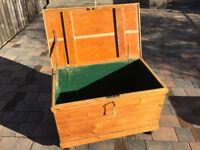 Large chest with lock and key ,and wheels . Free local delivery