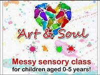 Art & Soul Brightons Falkirk Messy Play Class