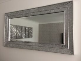 Silver crackled mirror