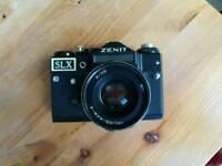 Rare Zenit SLX Vintage 35mm Russian Film Camera, Helios 44m-4 58mm f/2