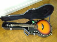 Yamaha APX500 MK3 Electro Acoustic Guitar Vintage Sunburst + hard carry case.