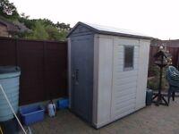 Plastic kettler shed 6x4