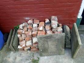 Free mixed bricks, rubble, hardcore