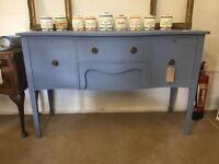Serpentine sideboard - newly painted