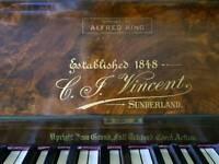 Stunning Vintage Piano C.T.Vincent Sunderland