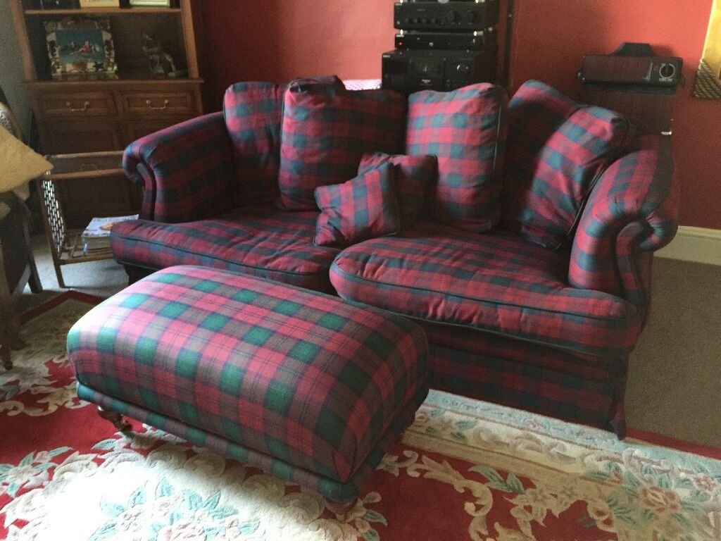 Lindsay Tartan Sofa And Footstool In Crieff Perth And