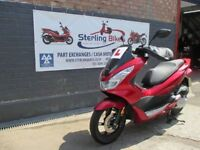 HONDA PCX 125cc RED COLOUR MODEL 2016 EXCELLENT CONDITION AS BRAND NEW ONLY 310 MILES