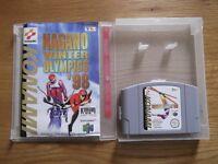Nagano Winter Olympics '98 - Nintendo 64 winter sports game with instructions & storage display box