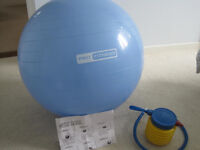 Fitness gym ball pro complete with foot pump & box