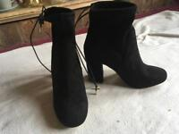 Miss GK ladies ankle boot brand new black size 6/39 new £5