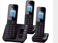 Panasonic TGH223 EB Cordless triple phone set