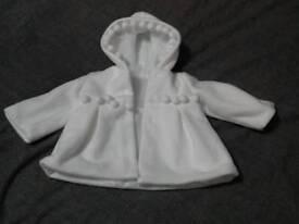 Girls christening coat 6-9 months