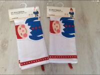 Christmas Elf tea towels