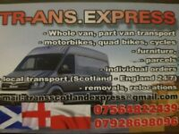 Man and Van Service- Van and Driver Hire House Move Removals Furniture Transport