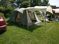 Outwell Minnesota 4 family tent + canopy awning