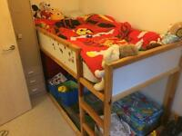 Ikea cabin bed and mattress