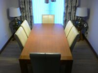 Solid Oak G-Plan Dining Table.
