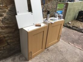 Top set of kitchen cabinets