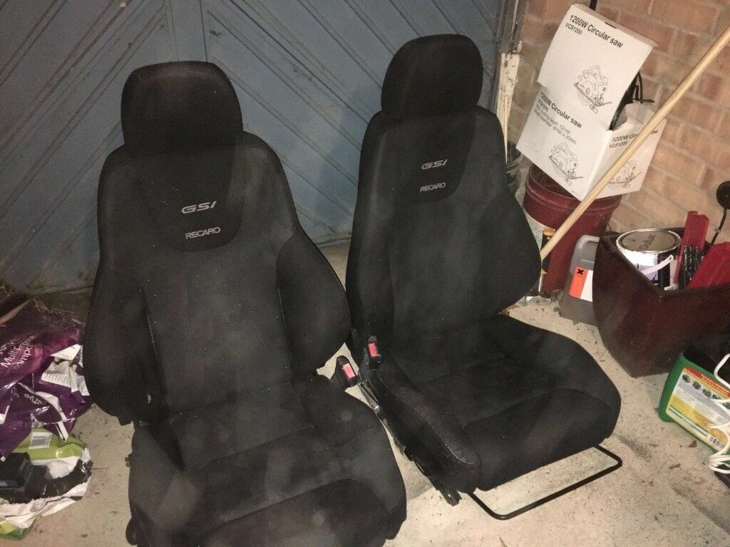Recaro seats x 2 gsi seats complete with electronics and seat belt clip