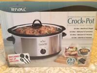 NEW Crock-pot slow cooker 6.5 litre