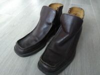 Men's Ravel Brown Leather Boots size 10 (44)