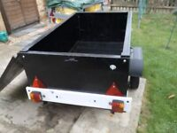 Box trailer with lid, Camping,Tip etc. inc. lighting board, all in good order.