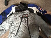 Men's Biker Jacket Size Medium with liner in excellent condition