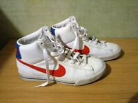Nike High Top Trainers White Size 9