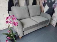 New Next 2 Seater Hepburn Sofa in Antique Velvet Light Grey