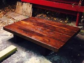 Hand Made solid wood coffee table