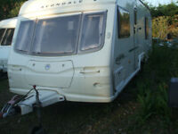 touring caravan AVONDALE ARGENTE 2005 FIXED BED .TWIN AXLE ,END WASHROOM 22FT