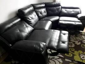 Beautiful chocolate corner sofa