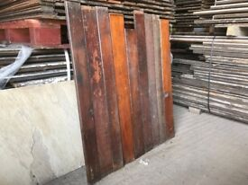 Reclaimed T&G and V pitch pine cladding,sheeting or wainscott.