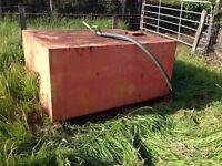 1300 litre Diesel fuel filling tank & 2.3 metre high structural steel framed stand.