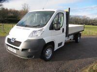 2014 Peugeot Boxer Dropside Lorry pickup Transporter 335 L3 HDi VGC only £6495 NO VAT
