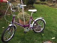 Folding bicycle, in excellent condition. Only used once.