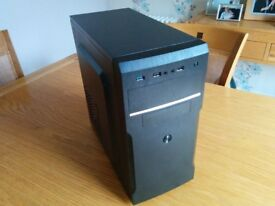 Office desktop Computer and 2 Monitors for sale, Intel Core 2 duo, 4GB RAM, 500gb HDD. 720p monitor