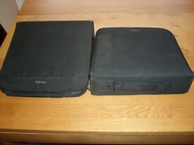 TWO DVD / CD STORAGE CASES CAN HOLD 224 PER CASE EXCELLENT CONDITION AND CONSTRUCTION ZIP FASTENING