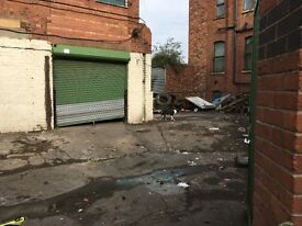large secure unit and yard to let on cobden st salford