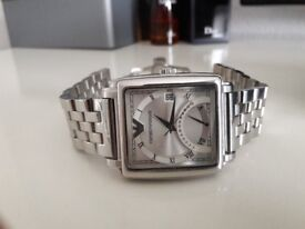 Armani square face 24 hour counter/date sell £35 or swap?