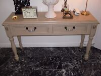 VINTAGE FRENCH CONSOLE TABLE HALL TABLE LAURA ASHLEY COUNTRY GREY