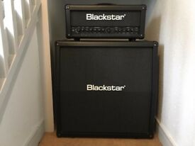 Blackstar ID:60TVP amp, 4X12 cabinet,controller, high quality Roqsolid covers. New Condition.