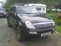 4x4 Ssangyong Rexton 2.9 (Mercedes) turbo diesel commercial (3.5T towing capacity) Long MOT £1500ono